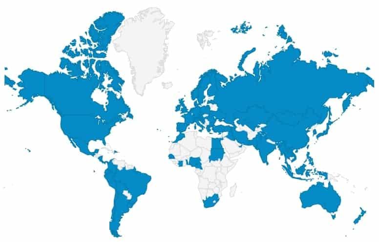 ZIPP दुनिया भर में बिक्री कवरेज