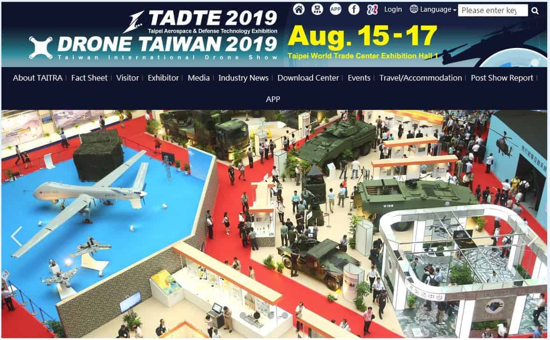 ताइपे एयरोस्पेस एंड डिफेंस टेक्नोलॉजी, बूथ # A1123, A1125, A1024, A1026, ताइपे ताइवान 2019 / 8 / 15 ~ 8 / 17